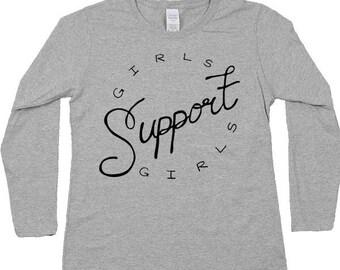 Girls Support Girls -- Women's Long-Sleeve