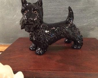 Vintage Scottish Terrier Scotty Black Figurine Goebel