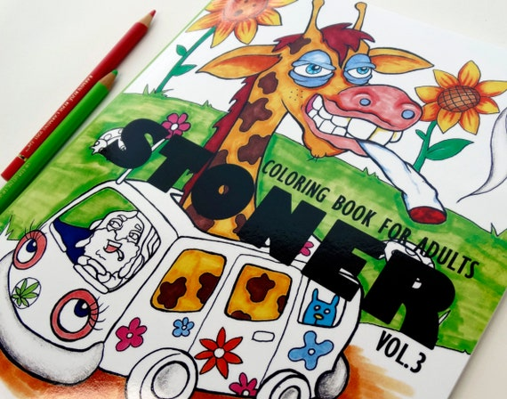 Stoner Coloring Book for Adults vol.3 weed stuff adult