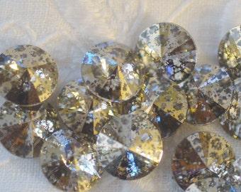 12 Gold Patina 8mm 1122 Rivoli SWAROVSKI ELEMENTS crystal 1122 39ss ss39