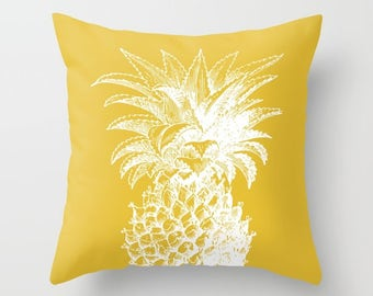 Pineapple Pillow   - Yellow pillow  - Modern Home Decor - By Aldari Home
