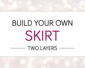 Build Your Own Cheeky Skirt,  Two Layer Skirt, Custom Rave Skirt, Custom Bottom, Custom Rave Bottom