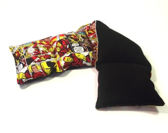 Super Hero Rice Pad - Natural Pain Relief - Neck Heat Wrap - Back Pain Relief  - Microwave Heat Pad - Sport Injury Pad - Reusable Heat Pad