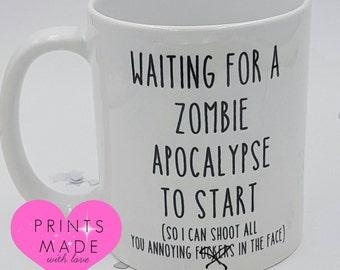 Zombie Apocalypse themed mug Adult humour walking dead