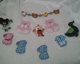 Wholesale Lot   10pc  cartoon puppy duck  Bear   embroidered iron on patch  about 3-4cm