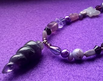Amethyst Pendulum Natural Magic Necklace