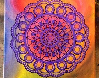 Mandala- Original acrylic painting
