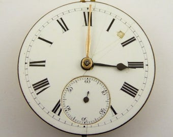 Late 1800s Antique Mechanical Pocket Watch Movement (51085)