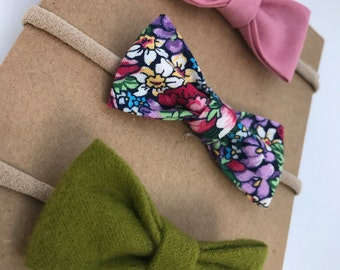 Floral/olive green/guava pink /CHOOSE YOUR FINISH