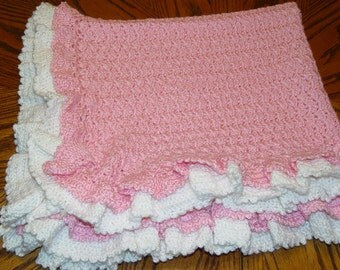 Precious Ruffled Heirloom Baby Blanket