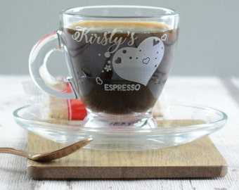 Heart Personalised Valentines Espresso Cup