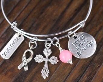 Breast Cancer, Breast Cancer Gifts, Breast Cancer Survivor, Breast Cancer Bracelet, Breast Cancer Survivor Gift, Survivor Gifts, Survivors