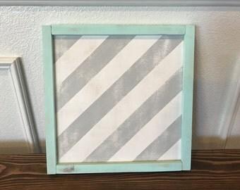 Framed Striped Decor