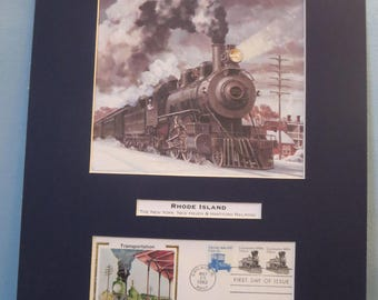 The New Haven Railroad & First Day Cover of the Steam Locomotive stamp