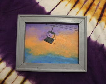 Chairlift Acrylic Painting