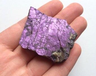 Purpurite natural rough stone purple 2 inch