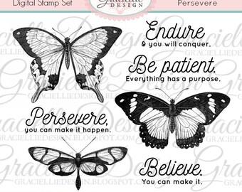Persevere - Digital Stamp Set