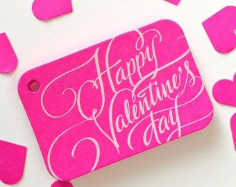 Love Tags, Valentine's Day Favor Tags, Happy Valentine's Day Tags, Treat Bag Hang Tags (RR-326P)