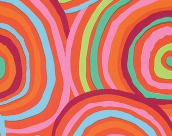 108'' Kaffe Fassett Red Circles Wide Backing by the Yard CIRCLES-RED