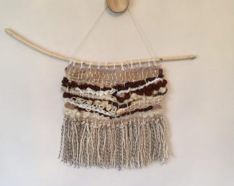 Woven wool wall hanging