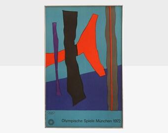 olympische spiele munchen 1972 poster, josef albers olympic poster, josef albers print, 1972 munich olympic poster, midcentury art poster