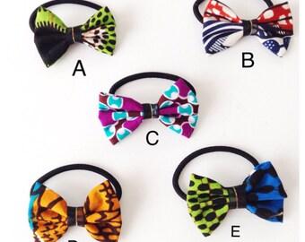 Small Ankara Elastic Hair Bow, Cheer Bow on Thick Elastic Band, For Hair, Ankara Fabric Elastic, Ankara Bow, For Girls, For Women