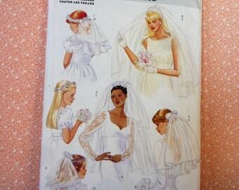 Butterick Sewing Pattern #5972, Bridal/Girls Communion Veil, UNCUT