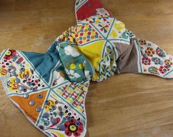 Elephant Cloth Diaper - Whale Cloth Diaper - Balloon Cloth Diaper - Bamboo Fitted Diaper - Hemp Insert - Flower Cloth Diaper -Fantasy Diaper