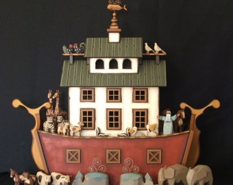 "Handmade wooden Noah's Ark ""The Nantucket Ark"""