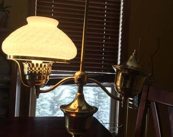 Vintage Brass Student Desk Lamp