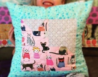 Custom Quilted Pillow Slipcover - all profits go to charity of your choice