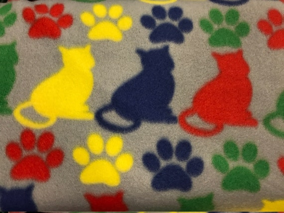 Items similar to personalized cat blanket fleece