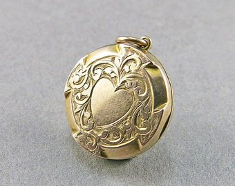 Antique Locket Pendant 9ct Gold Picture Locket Wedding Jewelry Gift For Her Gold Jewellery Antiques Collectibles