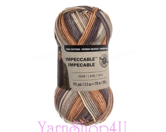 STILLNESS Impeccable Ombre, Loops & Threads, Earthy Ombre Yarn, Acrylic Planned Pooling, Color Pooling, Beige variegated, Multi color, 3.5oz