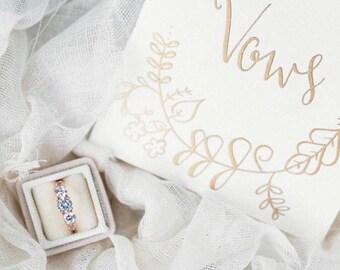 Ring Box in Champagne Velvet for Wedding Sets or Wedding Service