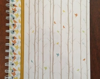 Set of 2 Personalized Notebooks/Journals -Birds Theme