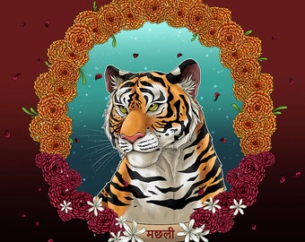 Art Print: Machli the Tigress
