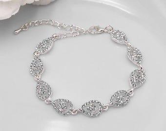 Rhinestone Bridal bracelet, wedding bracelet, rhinestone crystal bracelet, crystal bracelet, bridal jewelry, wedding bracelet 498929724