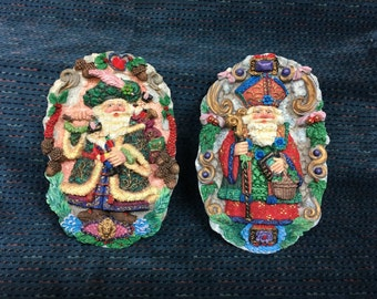 Crinkle Claus Plaques, Possible Dreams Ltd, Bishop of Maya, Celtic Santa, Christmas Wall Hangings, Christmas Plaques, Christmas Decor, Xmas