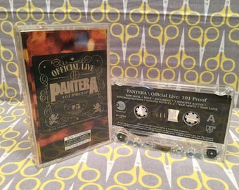 Official Live 101 Proof by Pantera Cassette Tape rock heavy metal