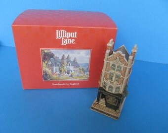 Lillyput Lane - Jewelers Shop  - Victorian Shops - Handmade England - Vintage Collectable