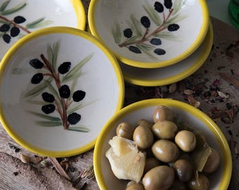 Ceramic Appetizer Plate / Olive Stoneware Plate / Small Ceramic Serving Dish / Ceramic Tapas Plates / Mothers Day Gift