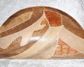 Big 80s Clutch Snake Evening Bag