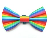 The Greene Bow Tie — Dog Bowtie, Made in Brooklyn, Bowtied, Rainbow, Gay Pride, Colorful, Bright, Multicolor