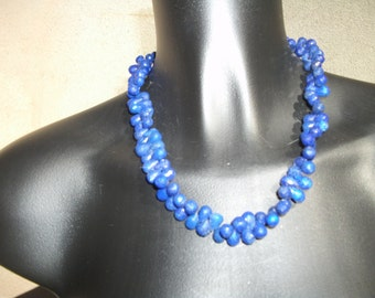 necklace of lapis lazulis gemstone Briolette: AAA.