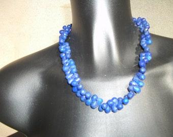 lapis lazulis briolettes Necklace: AAA.