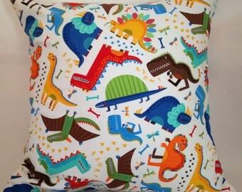 Dinosaur cushion, dinosaur pillow, kids dinosaur cushion, children's cushion, boys cushion, boys pillow, nursery cushion