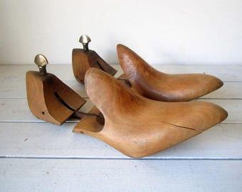 Vintage Shoe Lasts, Shoe Stretchers, Wooden Shoe Lasts, Shop Decor, Treen Shoe Lasts, Shoe Shapers, Shoe Trees, Cobblers Lasts