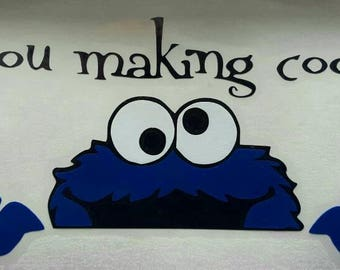 Cookie Monster Are You Making Cookies Decal For KitcheAid Mixer