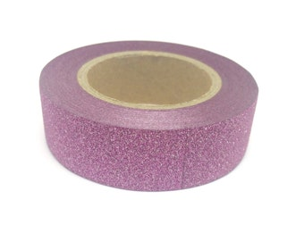 Light Pink Sparkly Glitter Sticky Tape 15mm x 10m